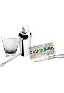Kit Caipirinha Sabores 5 Peças - Euro Home - Inox