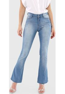 Calça Jeans Dzarm Bootcut Estonada Azul