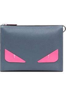 Fendi Clutch Bag Bugs - Azul