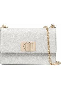 Furla Mini Glittered Crossbody Bag - Cinza