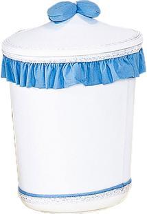 Lixeira Plástica Batistela Baby Brilhante Azul Motorista E Branco