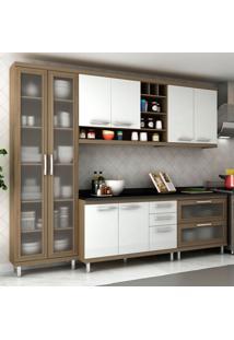 Cozinha Completa New Vitoria 15 Avelã Tx/Bianco - Hecol