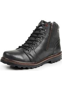 Bota Coturno Top Franca Shoes Casual Masculino - Masculino-Preto