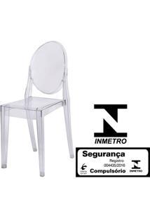 Cadeira Louis Ghost Sem Braco Cor Transparente - 9522 - Sun House