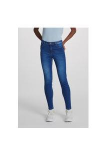 Calça Jeans Feminina Cigarrete Com Elastano