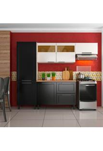 Cozinha Compacta Black&White 6 Pt 2 Gv Preta E Branca