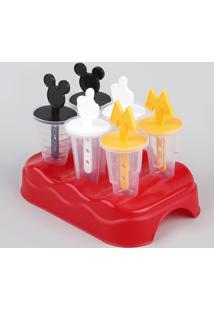 Forma De Picolé Mickey Com 6 Unidades Multicor