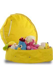 Puff Case Amarelo Guarda Brinquedos - Good Pufes