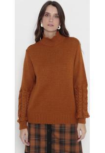 Blusa Em Tricô - Marrom Claro - Wool Linewool Line