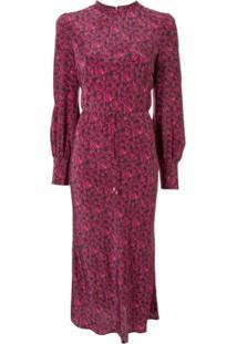 Rebecca Vallance Vestido Midi Rosette Com Estampa Floral - Roxo