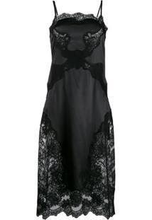 Dolce & Gabbana Satin Slip Dress - Preto