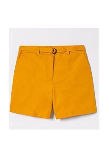 Bermuda Lisa Com Cinto E Bolsos | Cortelle | Amarelo | 40