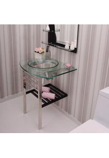 Gabinete Para Banheiro De Vidro Mondrian Astra Transparente