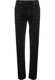 Saint Laurent Calça Jeans Reta - Preto