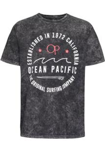 Camiseta Ocean Pacific The Original Masculina - Masculino-Preto