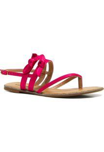 Sandália Via Marte Rasteira Laço - Feminino-Pink