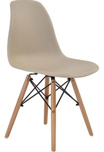 Cadeira Sem Braço Pp Base De Madeira Eiffel -Rivatti - Nude