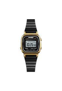 Relógio Skmei Feminino -1252- Dourado E Preto