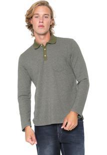 Camisa Polo Malwee Reta Bolso Verde