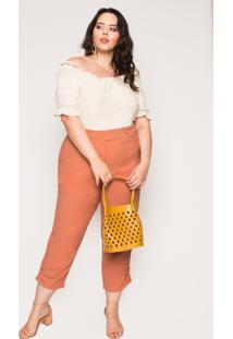 Bolsa Almaria Plus Size Salva Look Talam Liso Mostarda - Amarelo - Feminino - Dafiti