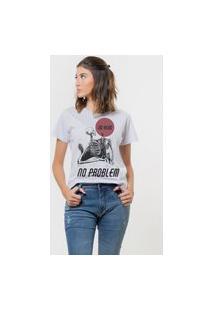 Camiseta Jay Jay Básica No Head Problems Branca