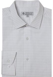 Camisa Dudalina Manga Longa Fio Tinto Maquinetado Xadrez Masculina (Xadrez, 40)