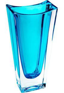 Vaso Ecológico Okinawa- Cristal & Azul- 30X14X8Cm