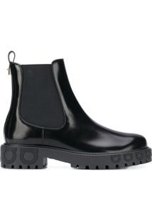 Salvatore Ferragamo Ankle Boot 'Gancio' - Preto