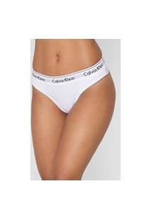 Calcinha Calvin Klein Underwear Fio Dental Renda Branca