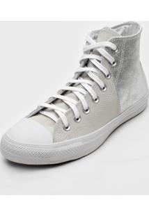 Tãªnis Converse Chuck Taylor All Star Off-White/Prata - Off-White - Feminino - Dafiti