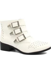 Bota Cano Curto Via Marte Ankle Boot Fivelas 18-4603