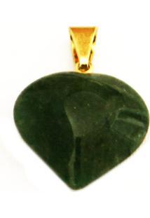 Pingente Coração Quartzo Verde - Twik