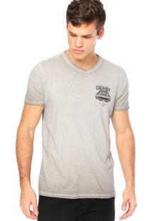 Camiseta Manga Curta Ellus Estampa Cinza