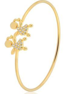 Pulseira Toque De Joia Bracelete Meninas Dourado