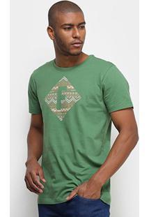 Camiseta Fórum Logo Masculina - Masculino-Verde