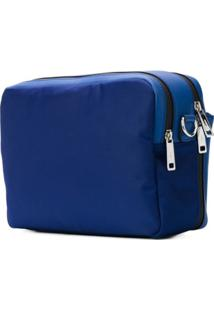 Fendi Bolsa Tiracolo Com Patch - Azul