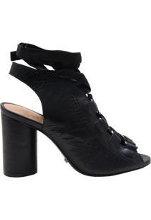 Open-Toe Boots Lace Up Black   Schutz