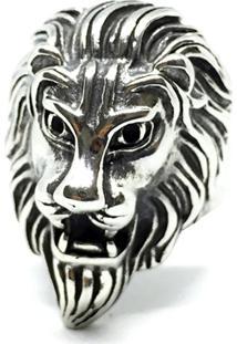 Anel Kodo Acessórios Leão Cromado