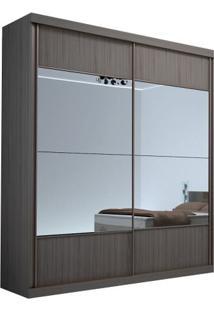 Guarda-Roupa Delta Com Espelho - 2 Portas - 100% Mdf - Álamo