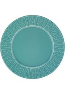 Prato De Sobremesa Em Cerâmica 22Cm Azul