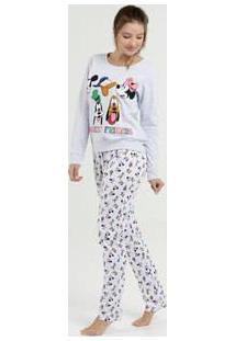 500d78c05df0e1 Marisa Pijama Feminino Estampada Manga Longa Disney
