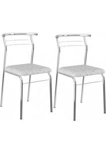 Cadeira Cromada 1708 02 Unidades - Carraro