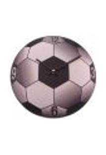 Relógio De Parede Bola De Futebol Metal 30X30 Cm