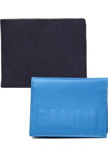 Carteira Calvin Klein Jeans Logo Azul