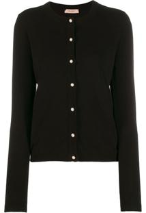 Twin-Set Cardigan Slim - Preto