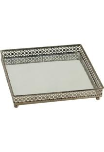 Bandeja Quadrada Metal Rendatto 16X16 - Unissex