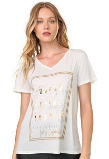 Camiseta Lanã§A Perfume Estampada Off-White - Off White - Feminino - Poliã©Ster - Dafiti