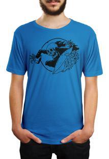 Camiseta Hshop Surfin' - Azul Turquesa