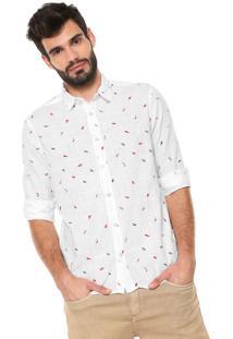 Camisa Reserva Reta Estampada Branca