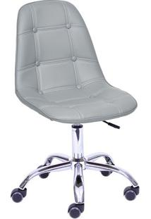 Cadeira Eames Botonê- Cinza & Prateada- 93X47X41Cm